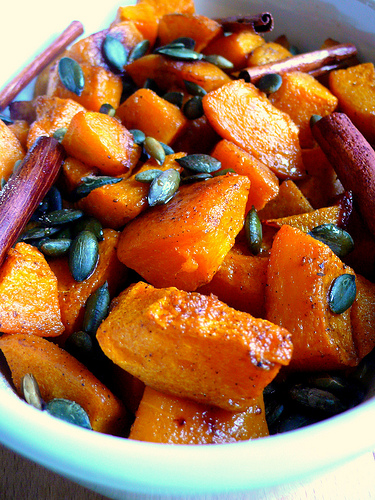 Spiced roasted pumpkin | cotto e crudo