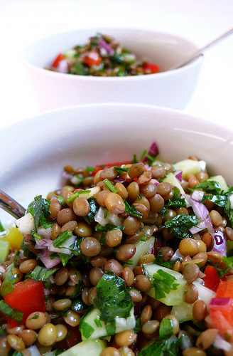 Lentil salad | cotto e crudo