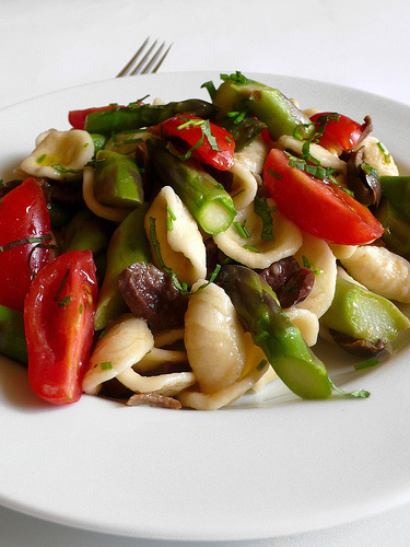 Spring orecchiette salad